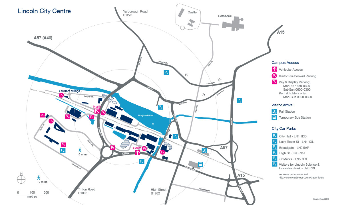 Campus map for University of lincoln, find short courses